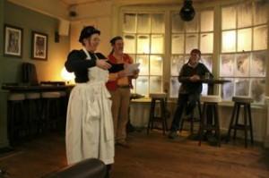 Steampunk pirate poet performance