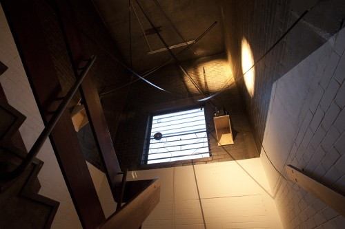 Can People See Me Swallowing - film for a stairwell at Spike Island - Louisa Fairclough (4)