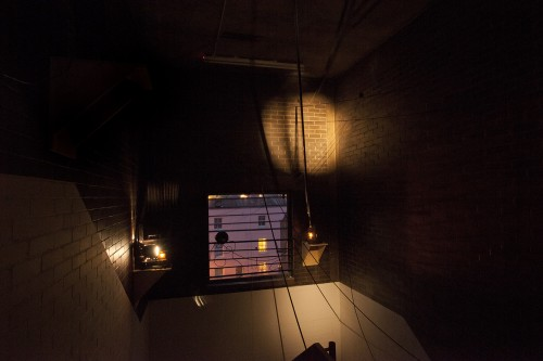 Can People See Me Swallowing - film for a stairwell, Spike Island - Louisa Fairclough, 2014 (3)